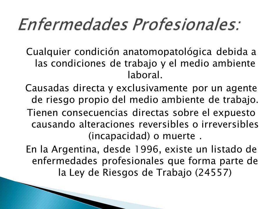 Enfermedades Profesionales: