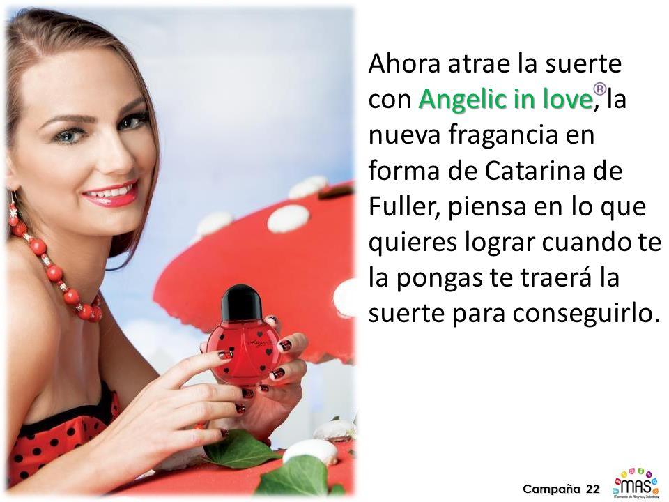 Ahora atrae la suerte con Angelic in love, la nueva fragancia en forma de Catarina de Fuller, piensa en lo que quieres lograr cuando te la pongas te traerá la suerte para conseguirlo.