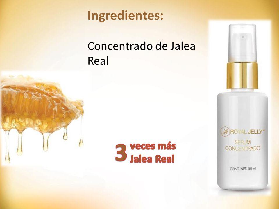 Ingredientes: Concentrado de Jalea Real 3 veces más Jalea Real