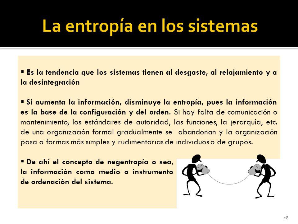 La entropía en los sistemas
