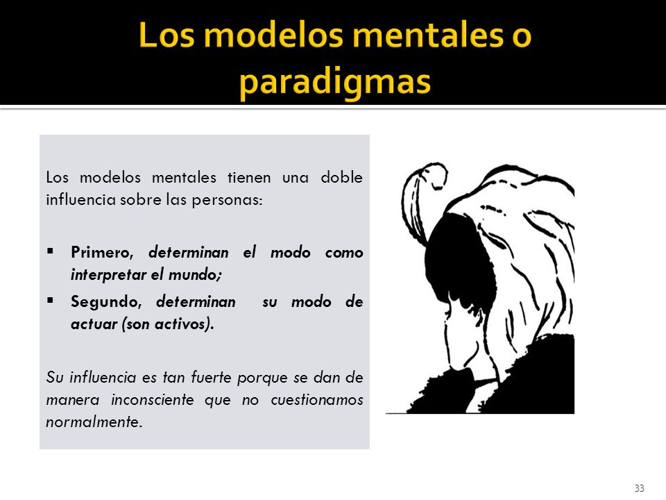 Los modelos mentales o paradigmas