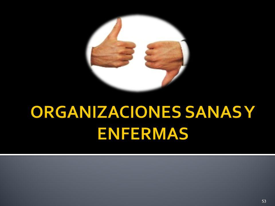 ORGANIZACIONES SANAS Y ENFERMAS