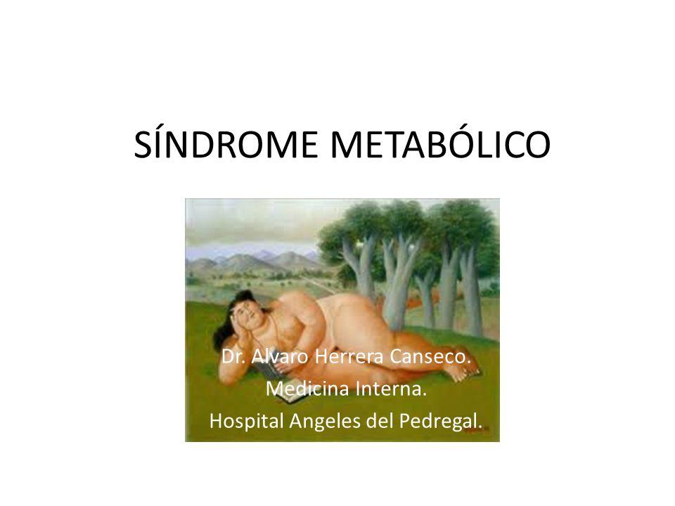 SÍNDROME METABÓLICO Dr. Alvaro Herrera Canseco. Medicina Interna.