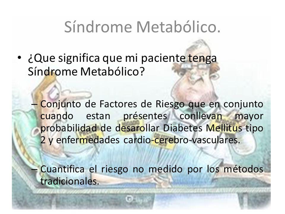 Síndrome Metabólico. ¿Que significa que mi paciente tenga Síndrome Metabólico