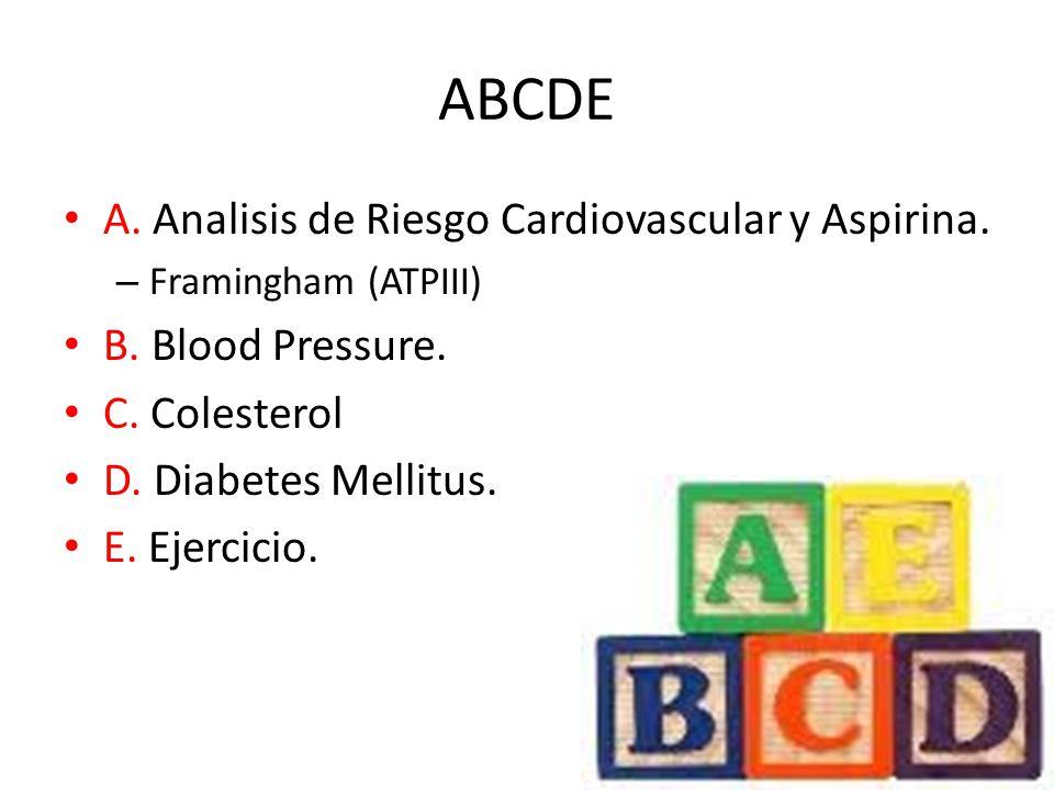 ABCDE A. Analisis de Riesgo Cardiovascular y Aspirina.