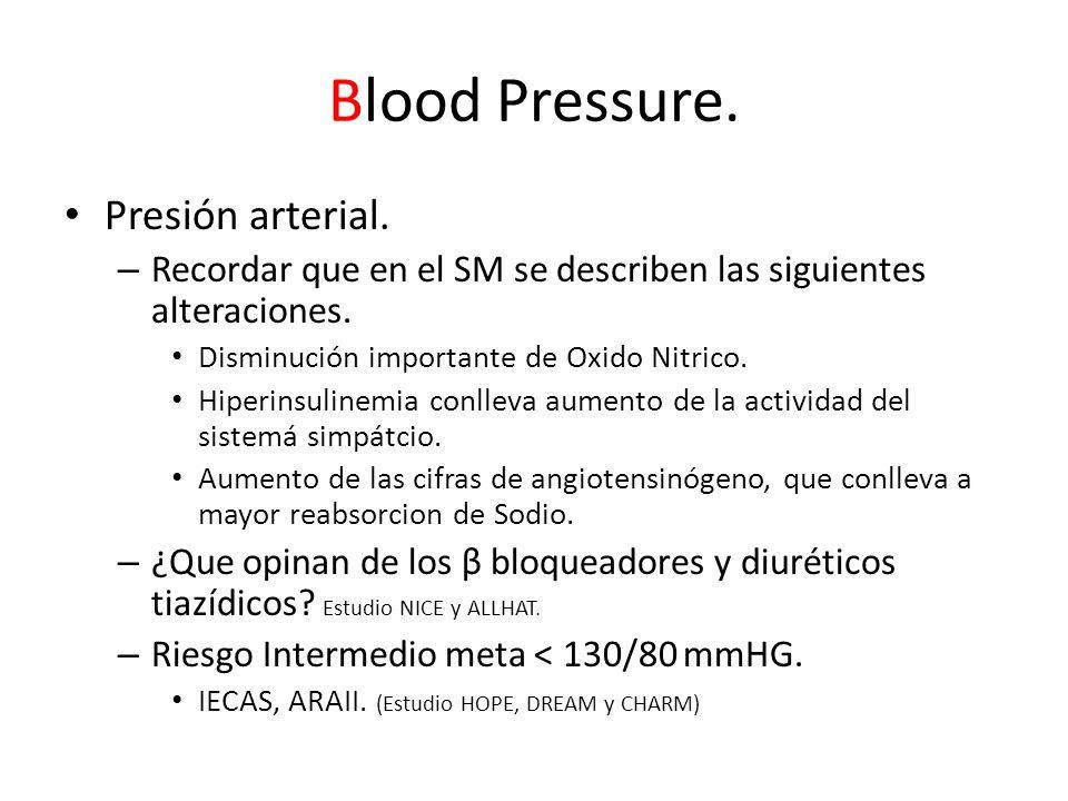 Blood Pressure. Presión arterial.