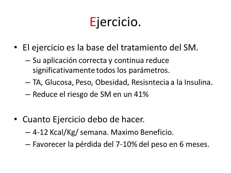 Ejercicio. El ejercicio es la base del tratamiento del SM.
