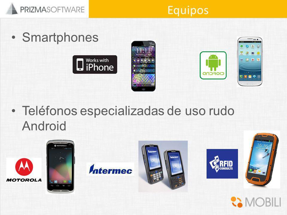 Equipos Smartphones Teléfonos especializadas de uso rudo Android