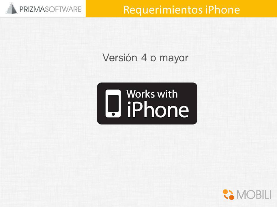 Requerimientos iPhone