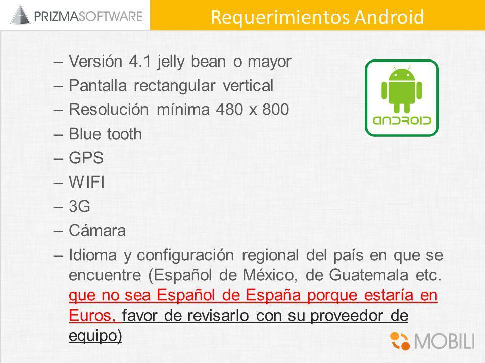 Requerimientos Android