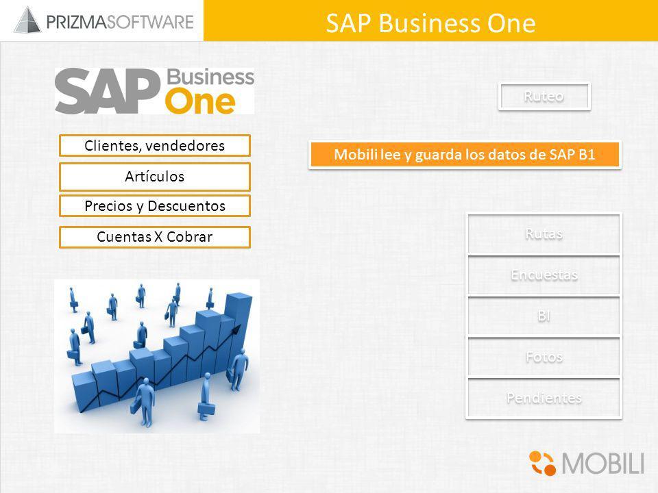 Mobili lee y guarda los datos de SAP B1