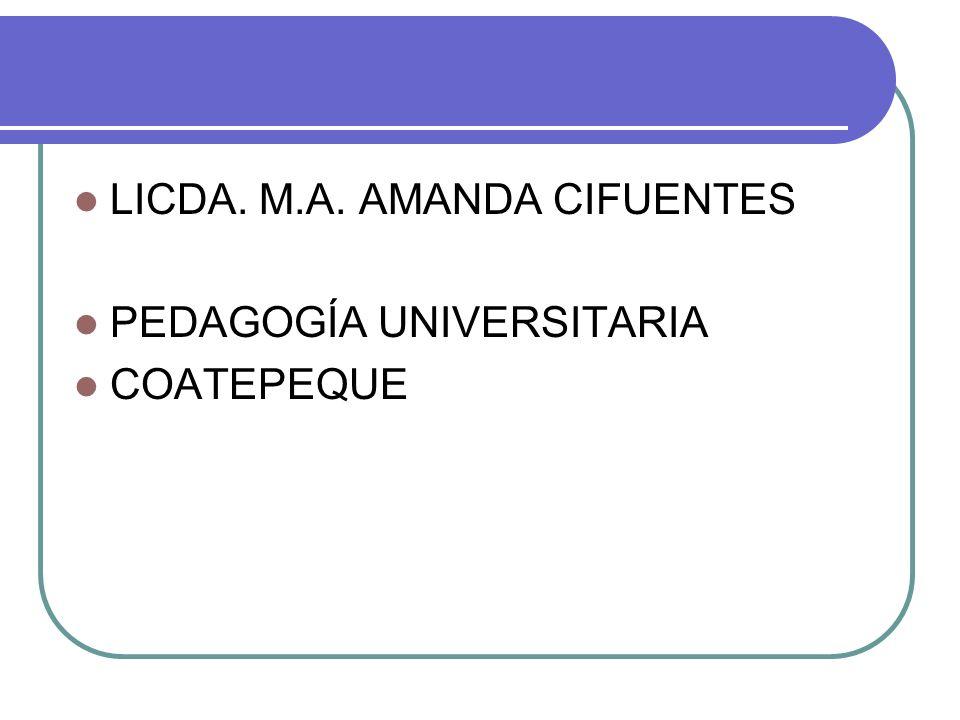 LICDA. M.A. AMANDA CIFUENTES