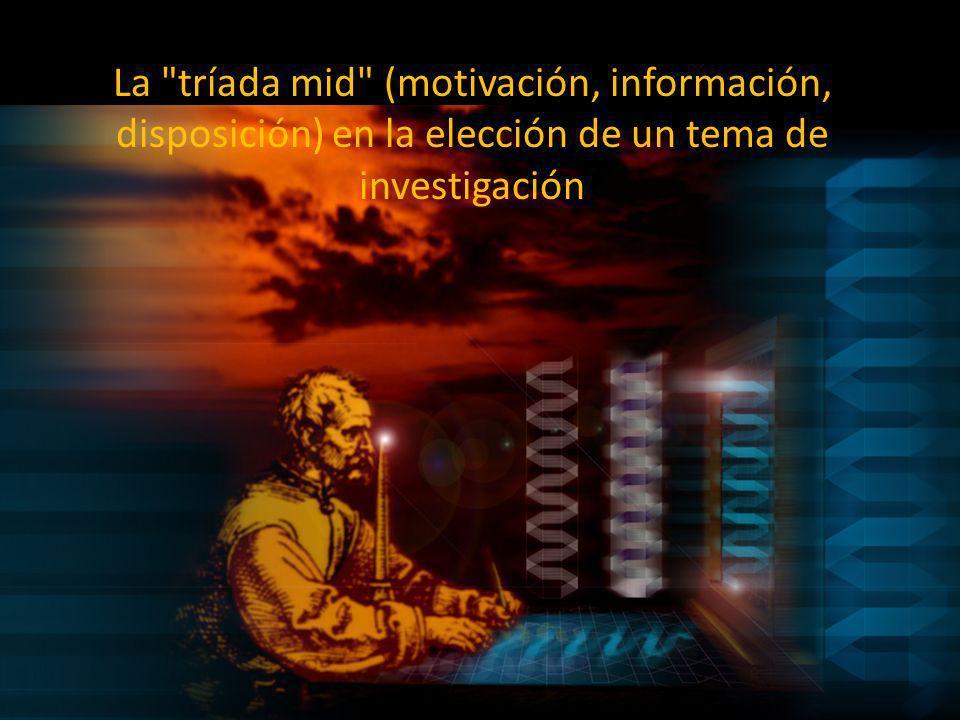La tríada mid (motivación, información, disposición) en la elección de un tema de investigación