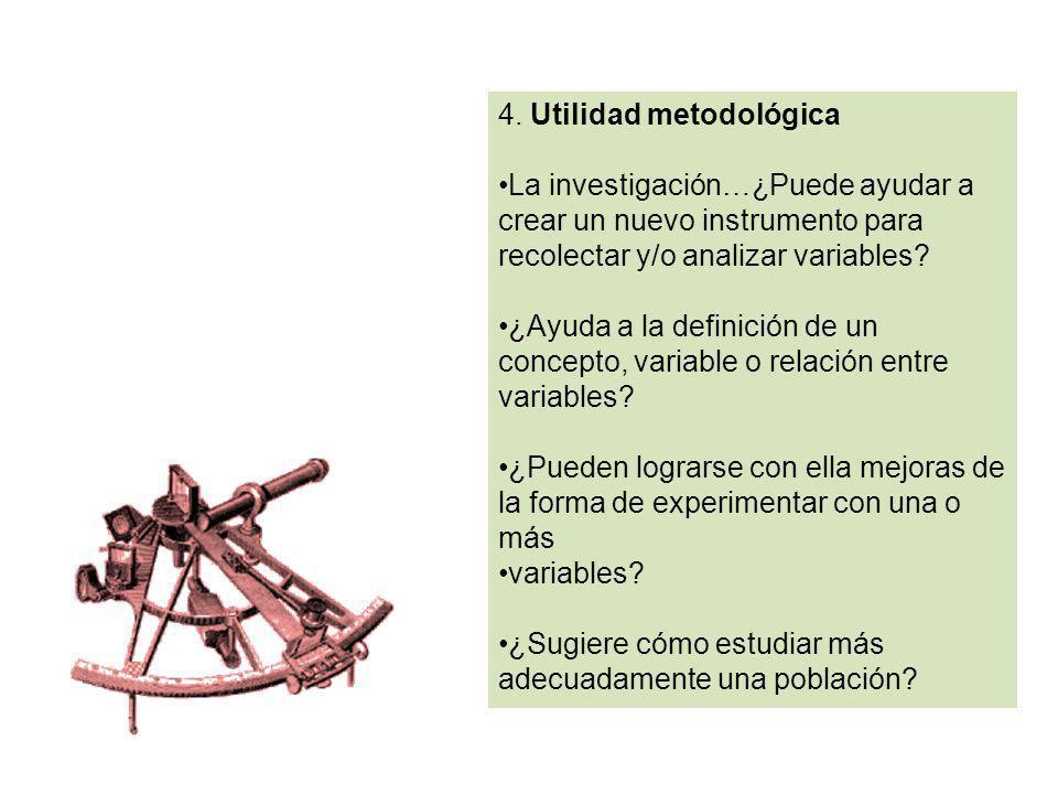 4. Utilidad metodológica