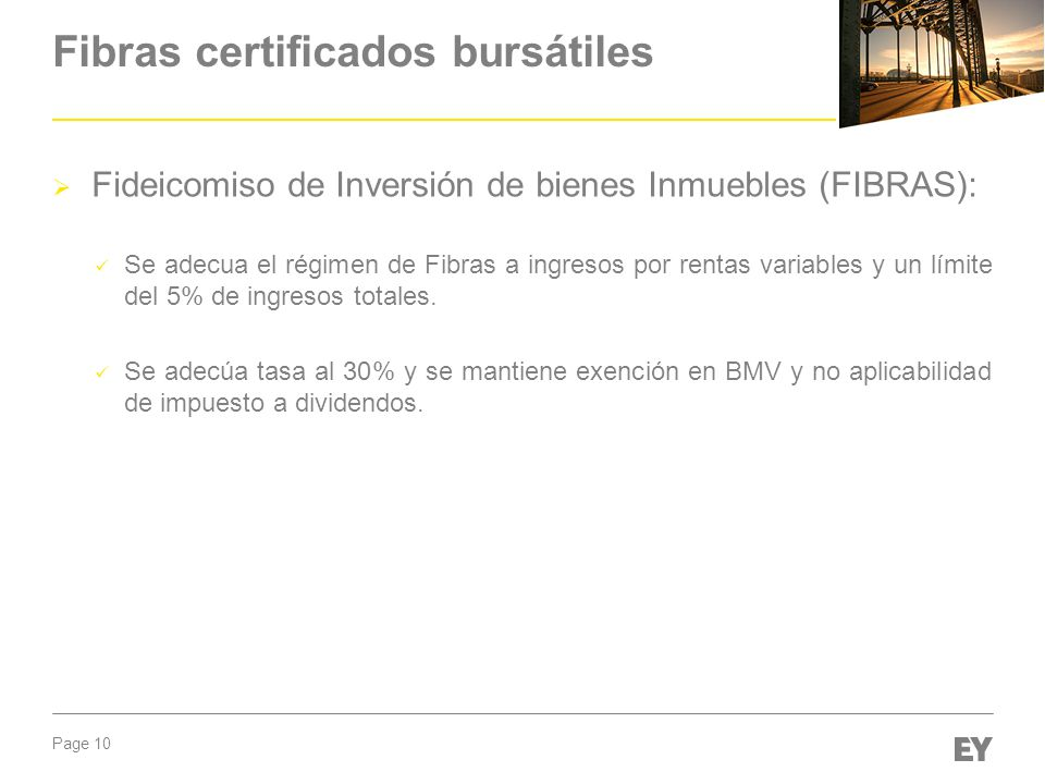 Fibras certificados bursátiles
