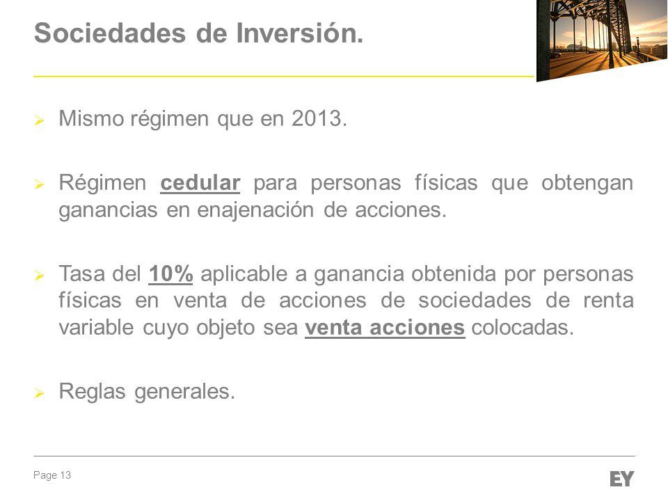 Sociedades de Inversión.