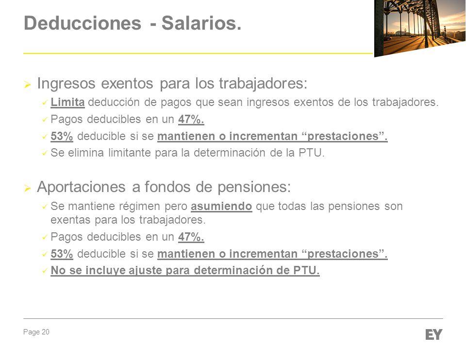 Deducciones - Salarios.