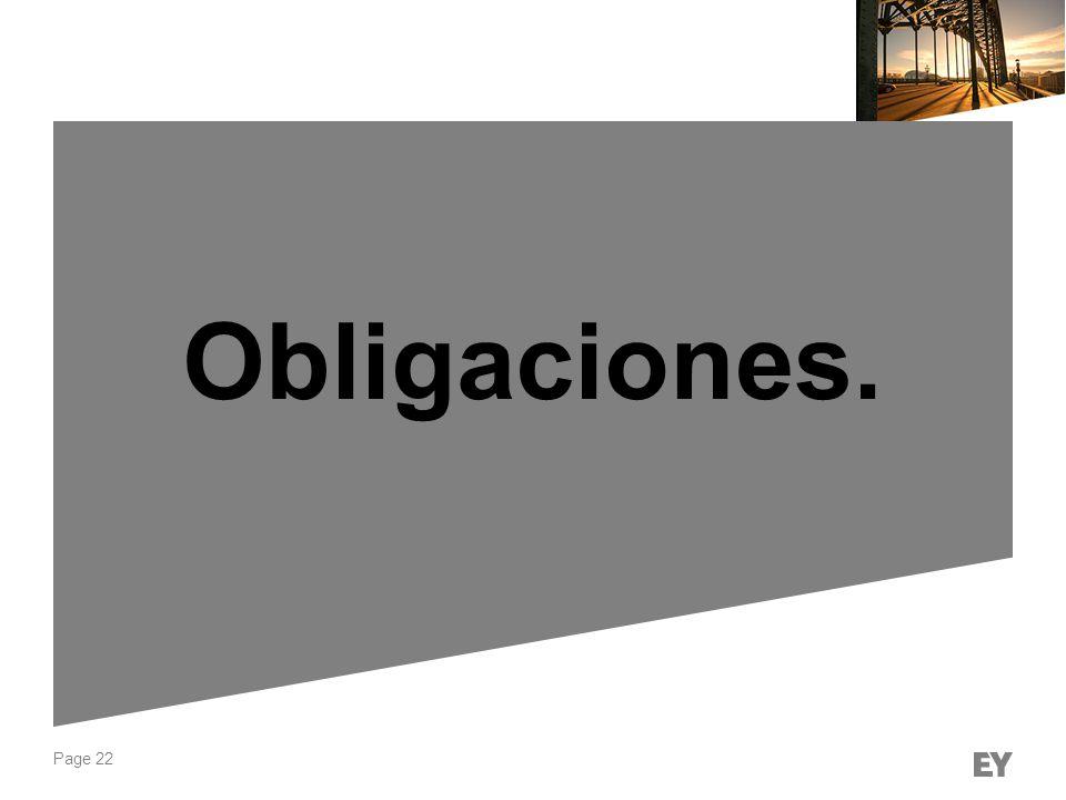 Obligaciones.