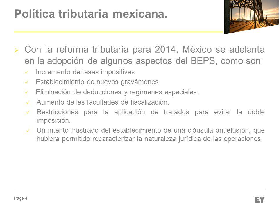 Política tributaria mexicana.
