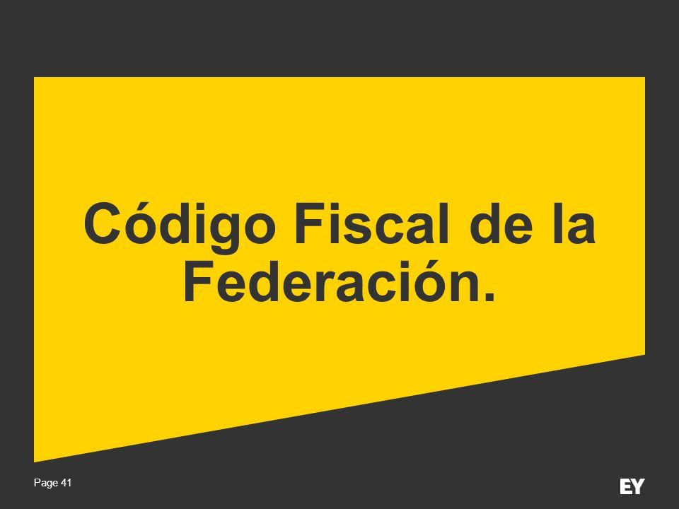 Código Fiscal de la Federación.