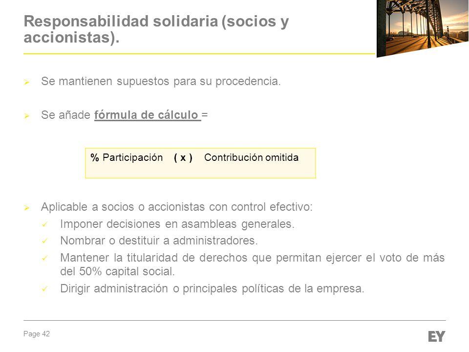 Responsabilidad solidaria (socios y accionistas).
