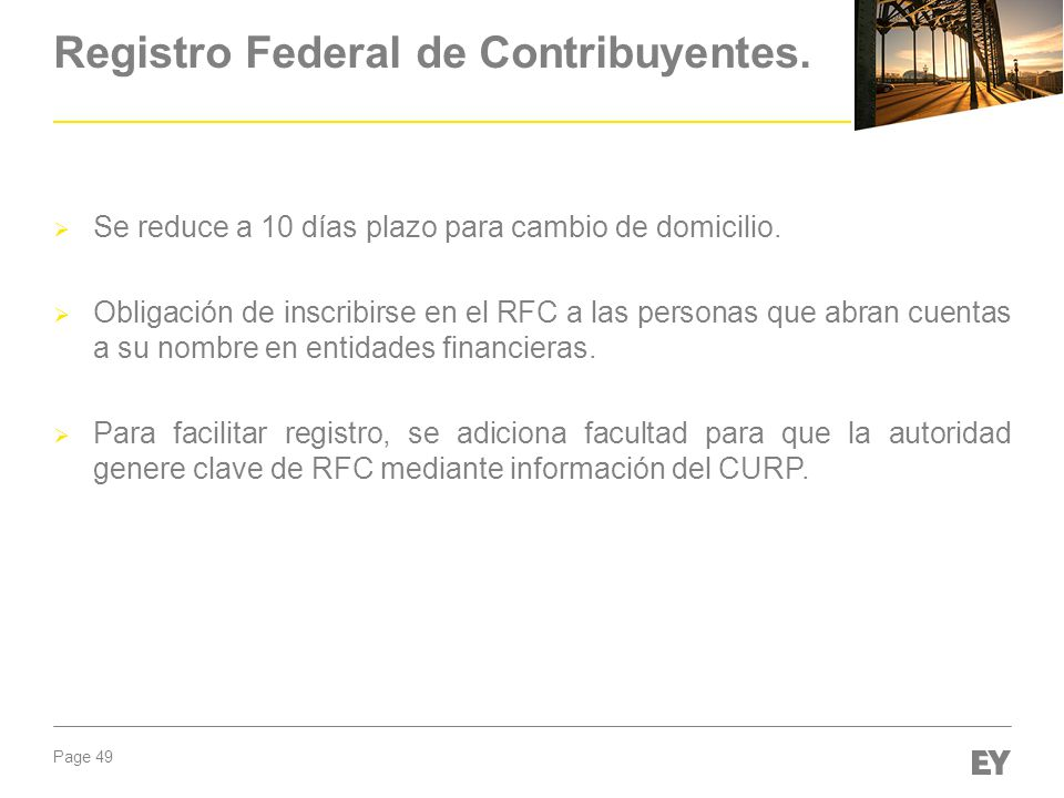 Registro Federal de Contribuyentes.