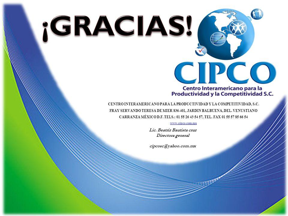CENTRO INTERAMERICANO PARA LA PRODUCTIVIDAD Y LA COMPETITIVIDAD, S.C.