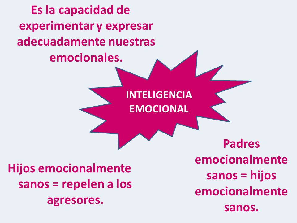 Padres emocionalmente sanos = hijos emocionalmente sanos.