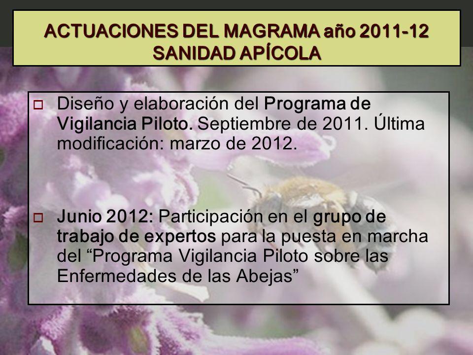 ACTUACIONES DEL MAGRAMA año 2011-12 SANIDAD APÍCOLA