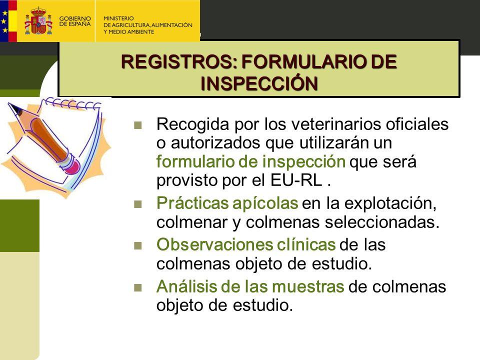 REGISTROS: FORMULARIO DE INSPECCIÓN