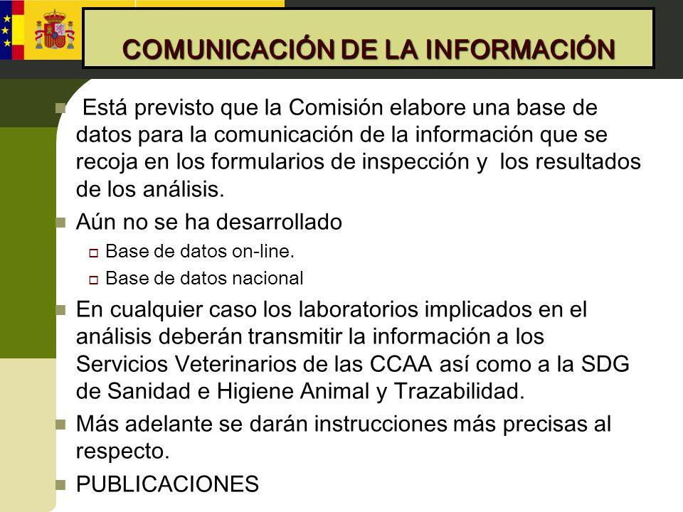COMUNICACIÓN DE LA INFORMACIÓN