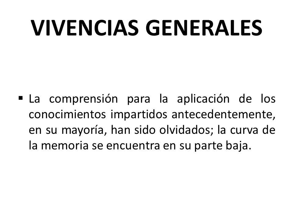 VIVENCIAS GENERALES