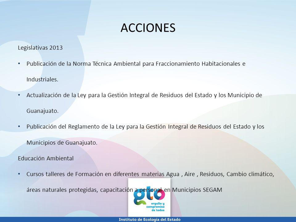 ACCIONES Legislativas 2013