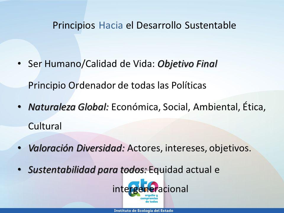 Principios Hacia el Desarrollo Sustentable