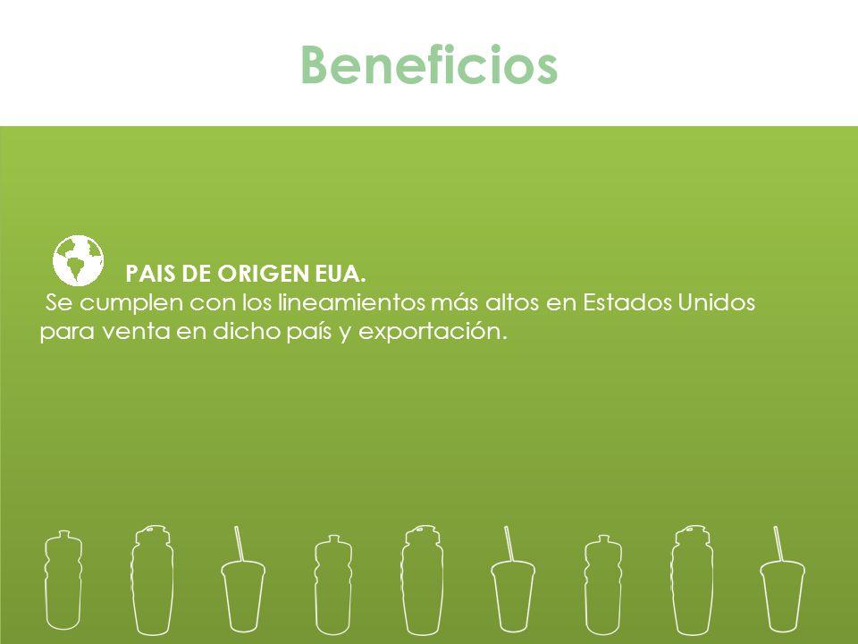 Beneficios PAIS DE ORIGEN EUA.