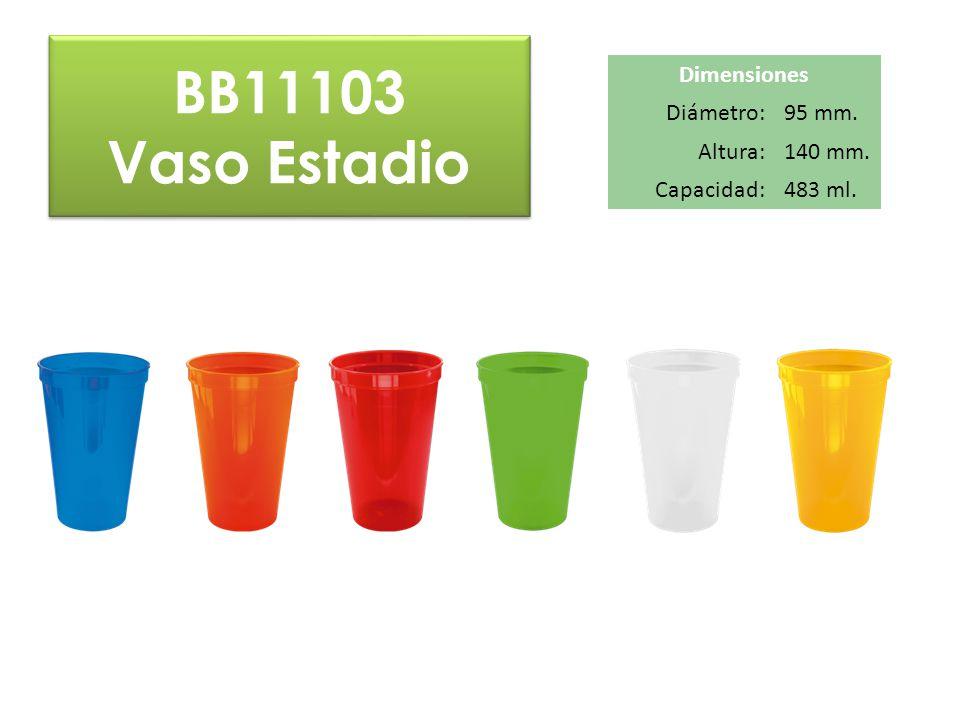 BB11103 Vaso Estadio Dimensiones Diámetro: 95 mm. Altura: 140 mm.