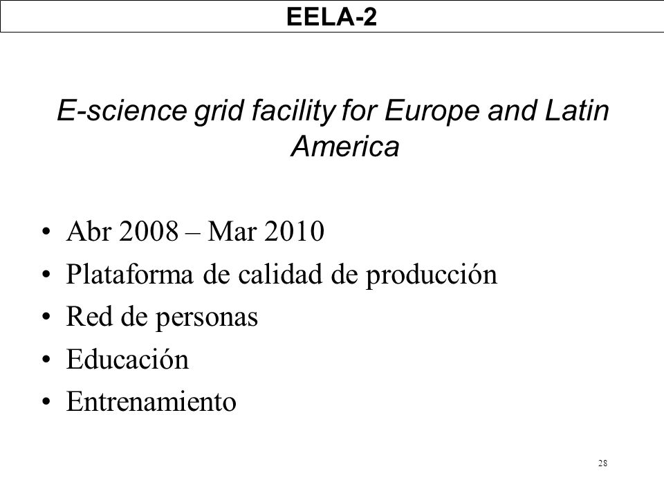 E-science grid facility for Europe and Latin America