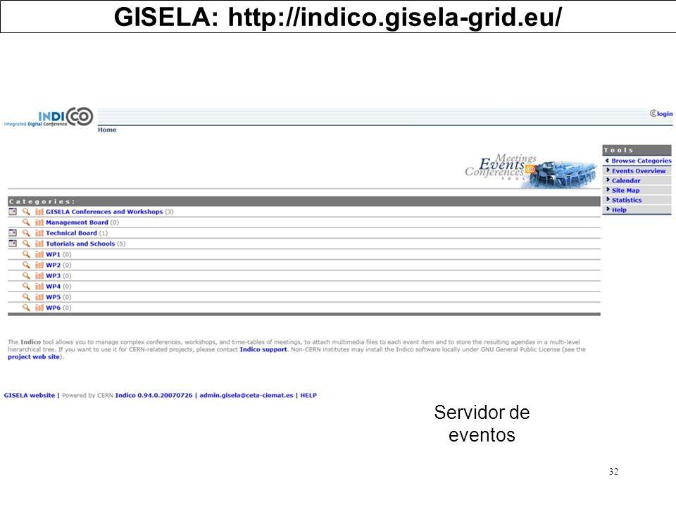 GISELA: http://indico.gisela-grid.eu/