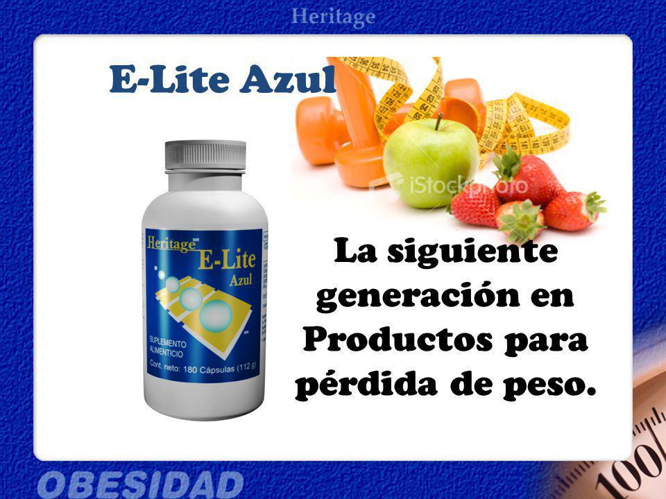 E-Lite Azul La siguiente generación en Productos para pérdida de peso.
