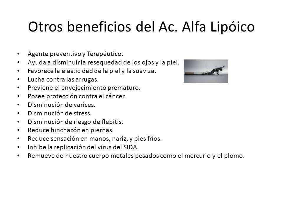 Otros beneficios del Ac. Alfa Lipóico
