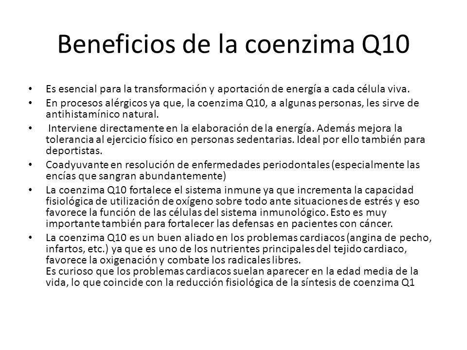 Beneficios de la coenzima Q10