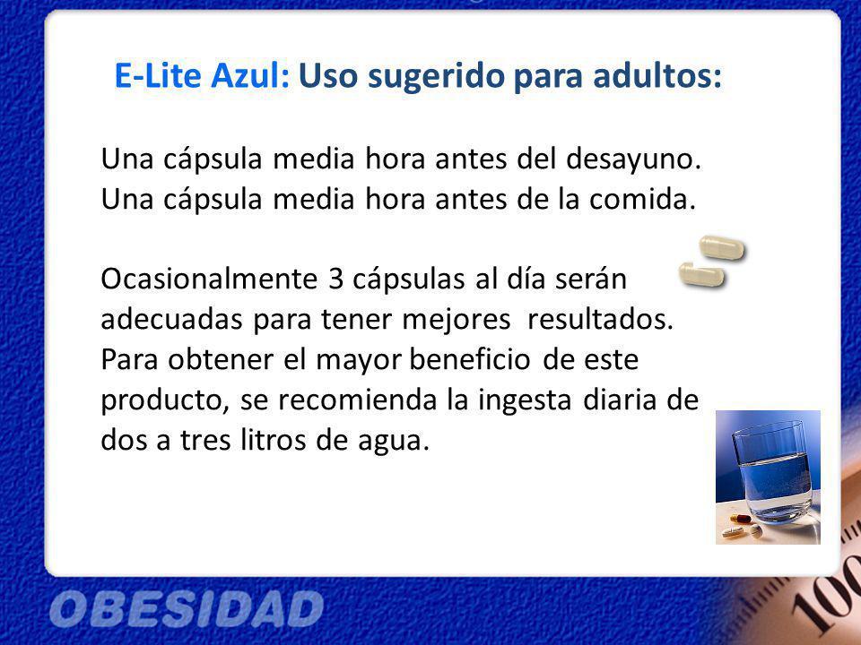 E-Lite Azul: Uso sugerido para adultos: