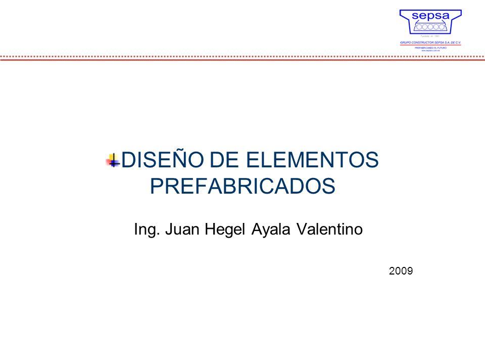 DISEÑO DE ELEMENTOS PREFABRICADOS