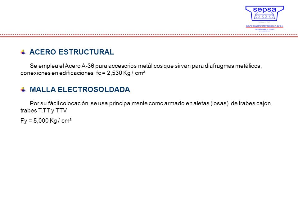 ACERO ESTRUCTURAL MALLA ELECTROSOLDADA