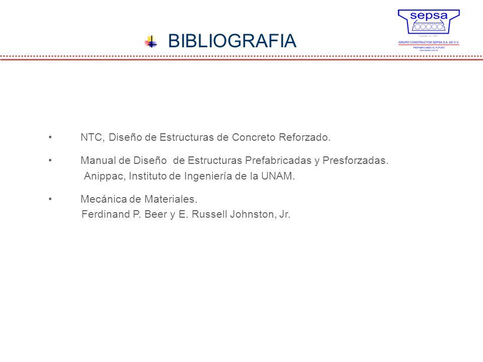 BIBLIOGRAFIA NTC, Diseño de Estructuras de Concreto Reforzado.