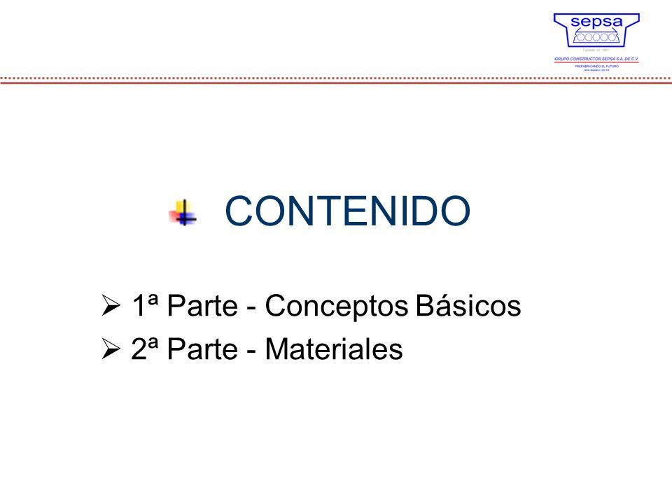 1ª Parte - Conceptos Básicos 2ª Parte - Materiales