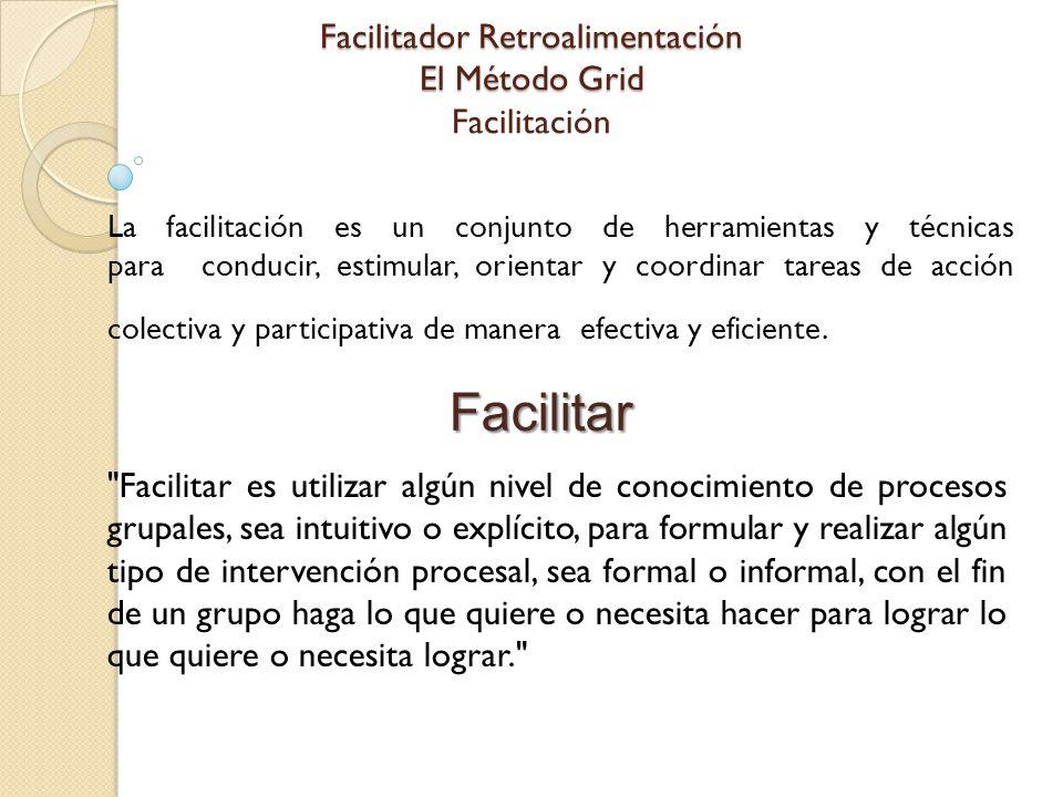 Facilitador Retroalimentación El Método Grid Facilitación