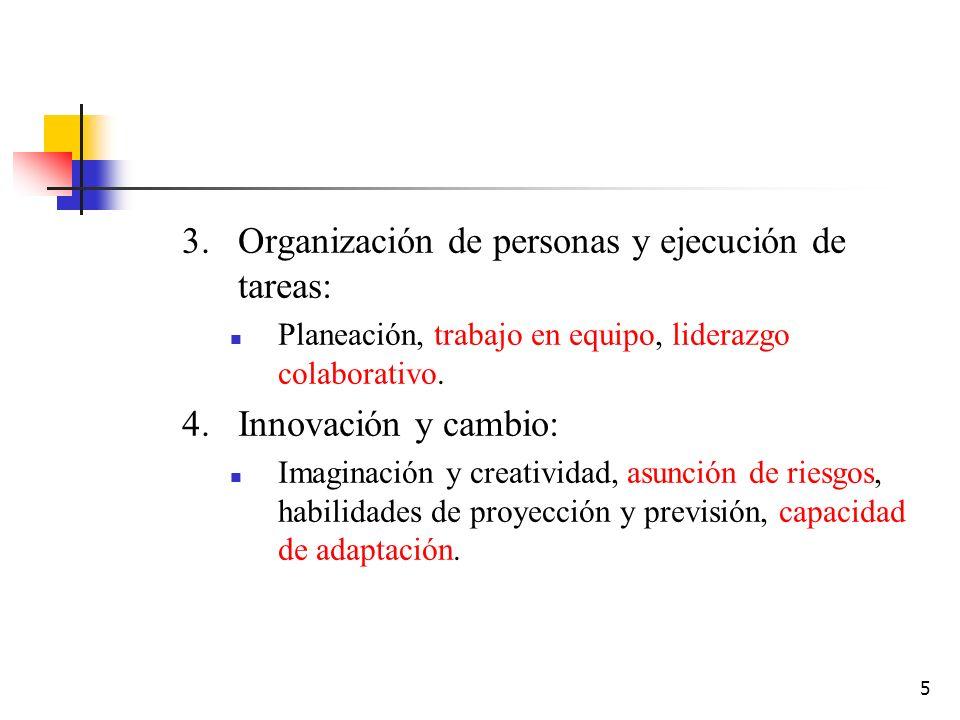 Organización de personas y ejecución de tareas: