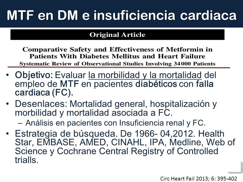 MTF en DM e insuficiencia cardiaca