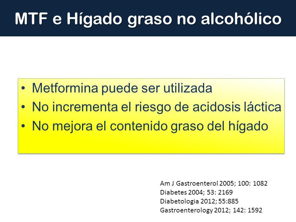 MTF e Hígado graso no alcohólico